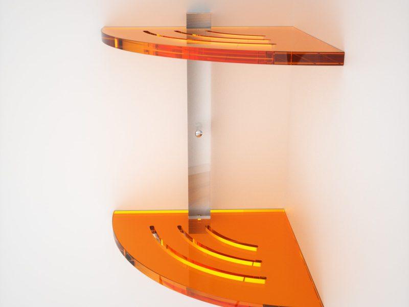 Mensole Angolari in plexiglass