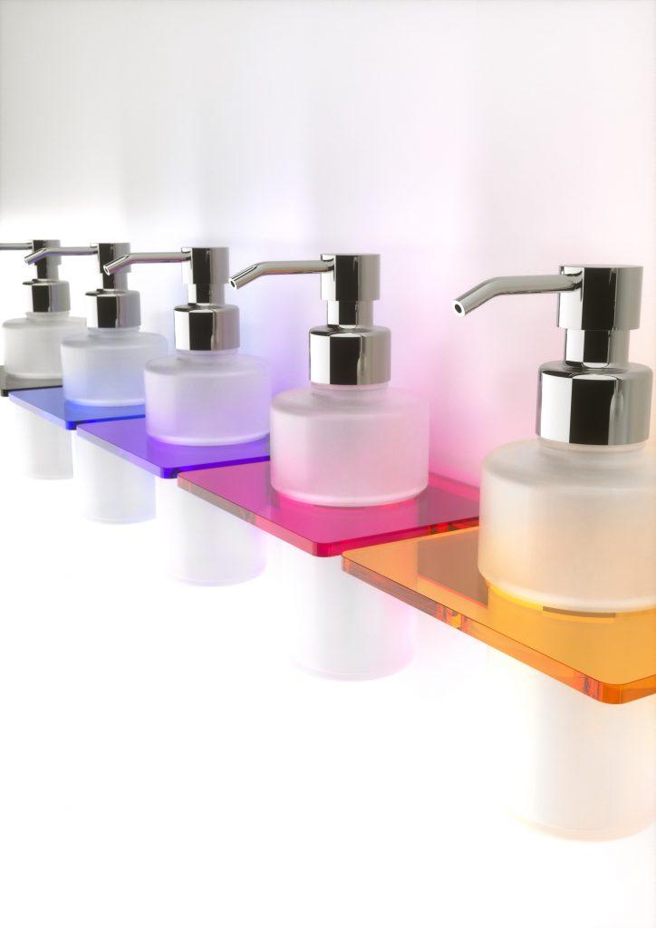 Accessori doccia portadispenser in plexiglass disponibile vari colori - Accessori bagno in plexiglass ...