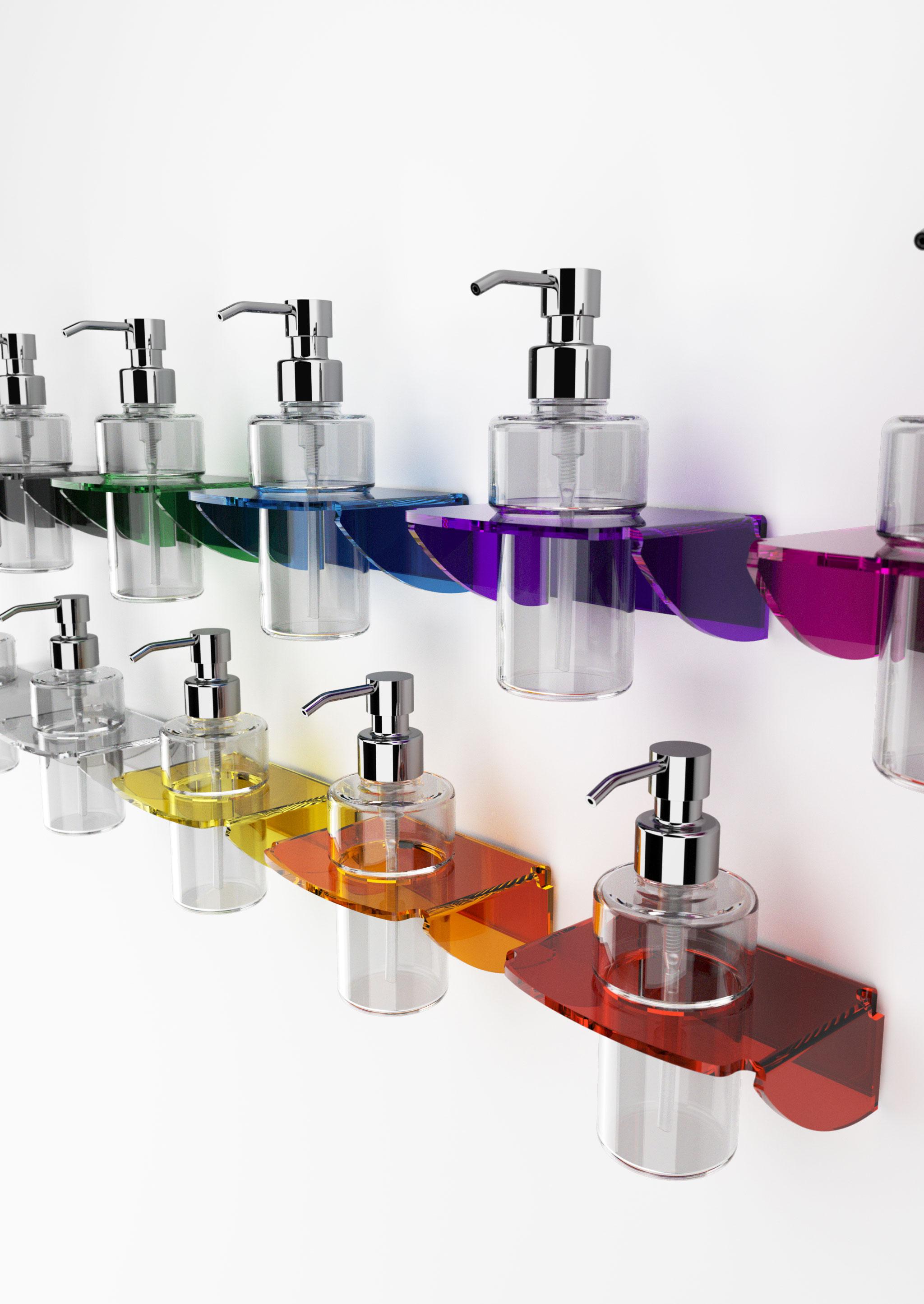 Portadispenser in plexiglass serie dea moderno ed originale - Accessori bagno in plexiglass ...