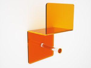 Porta rotolo in plexiglass da arredo bagno