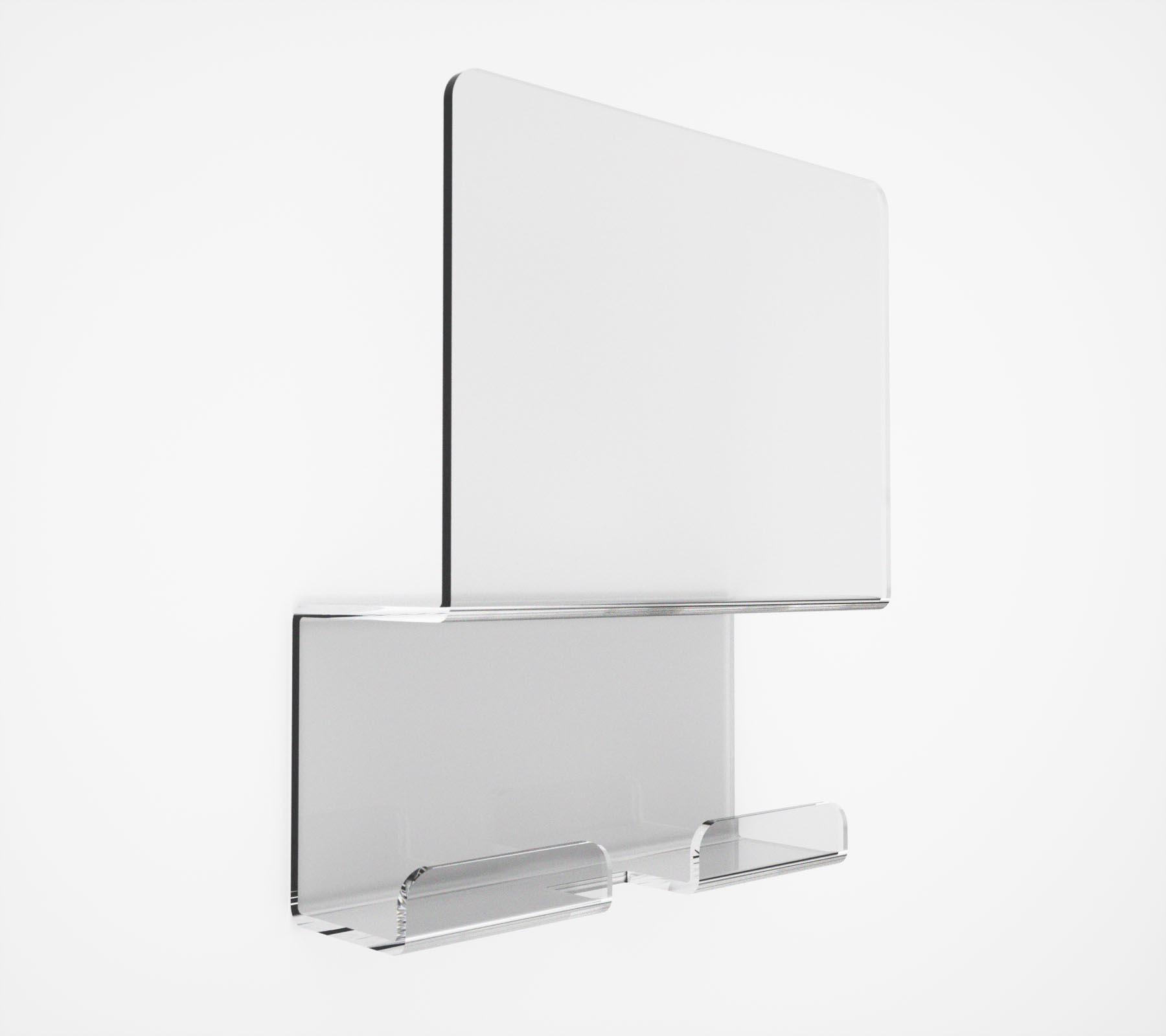 Appendiabito doppio in plexiglass serie folio nuovo ed originale - Accessori bagno plexiglass ...