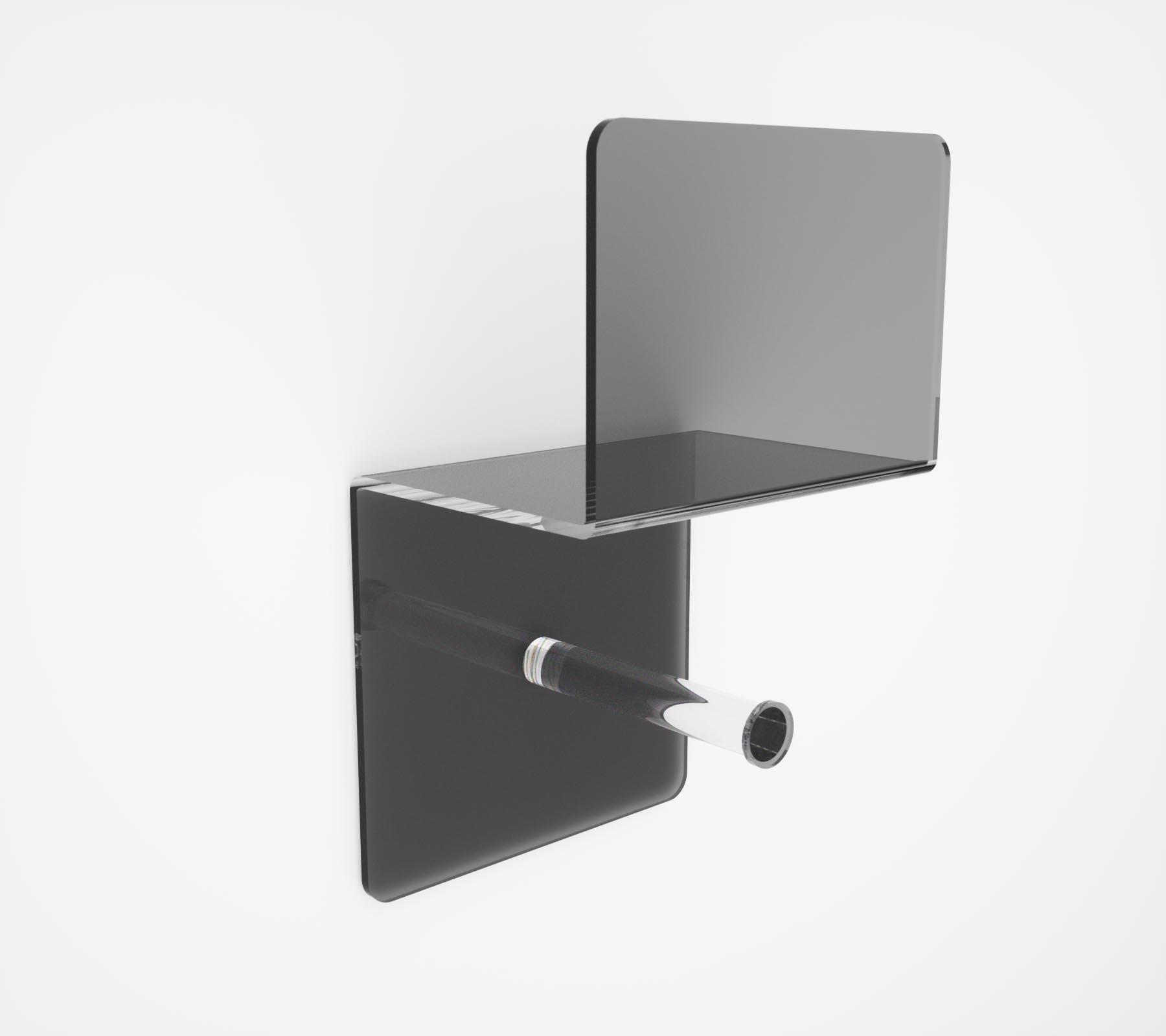Portarotolo in plexiglass serie folio moderno ed elegante - Accessori bagno plexiglass ...