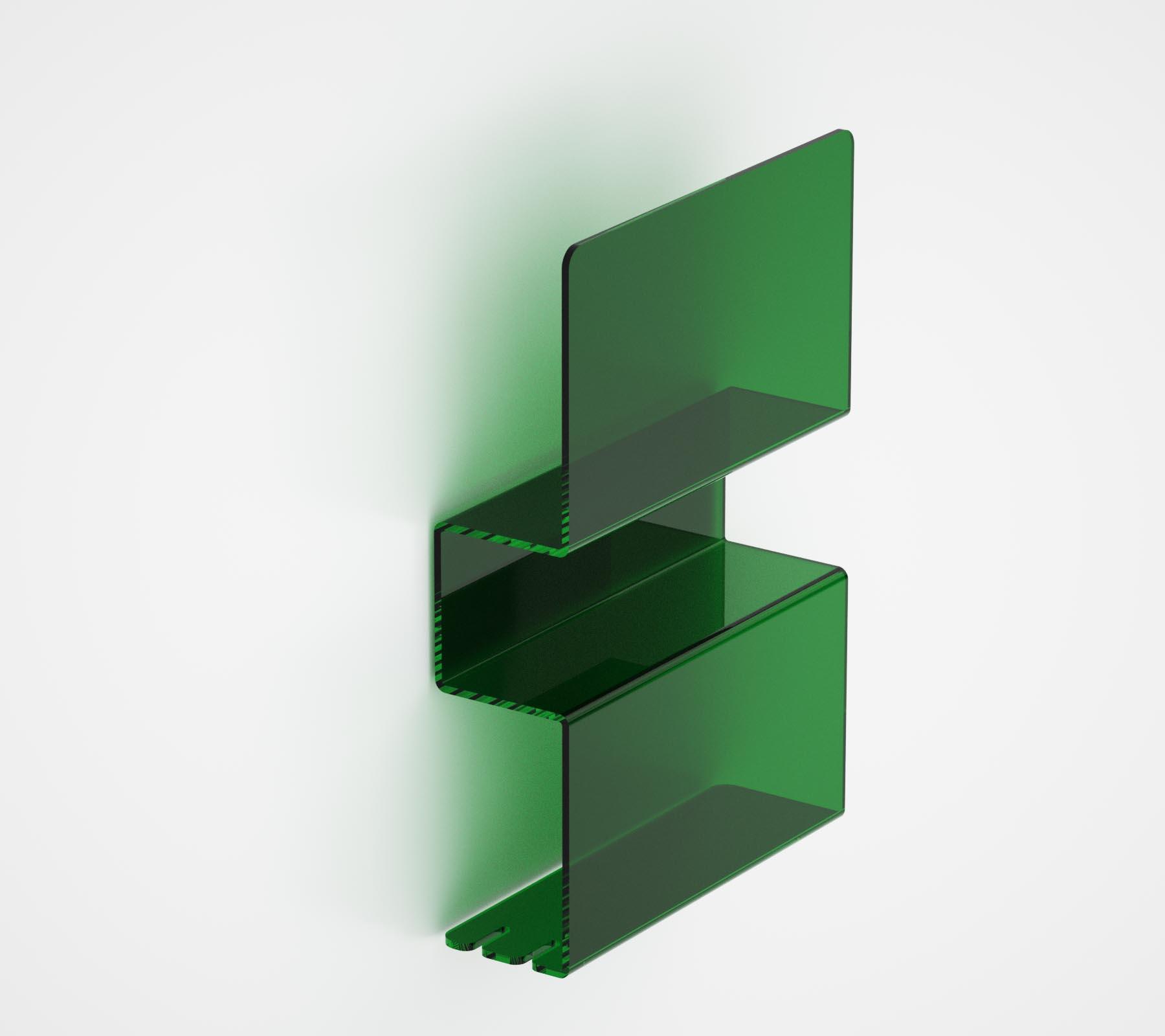 Mensole Plexiglass Colorate.Mensola In Plexiglass Doppia Serie Folio