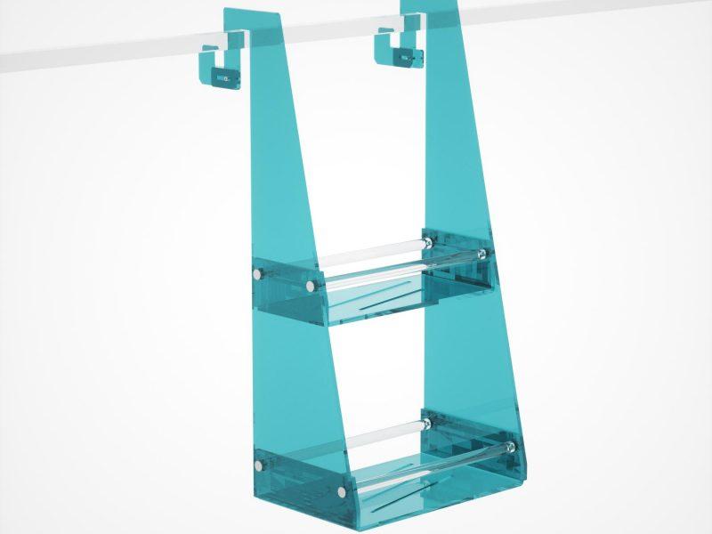 Appendibile in plexiglass per il box doccia