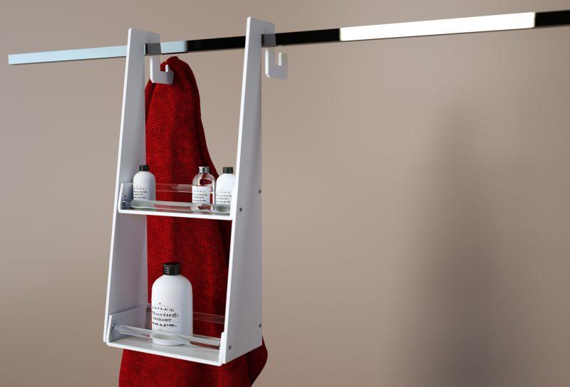 Appendibile doppio in plexiglass per il box doccia
