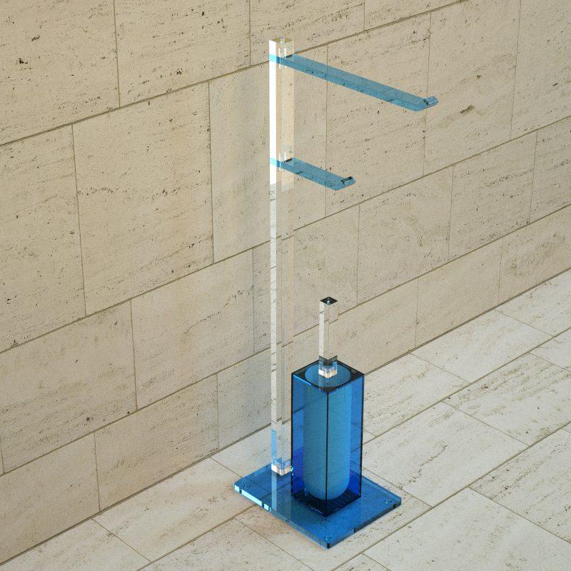 Piantana in plexiglass per il bagno