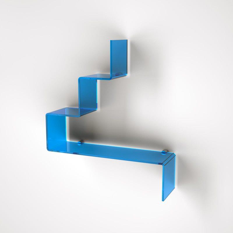 Mensola a gradini in plexiglass per il bagno