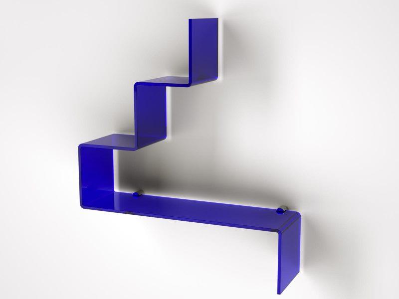 modulo in plexiglass colorato per il bagno