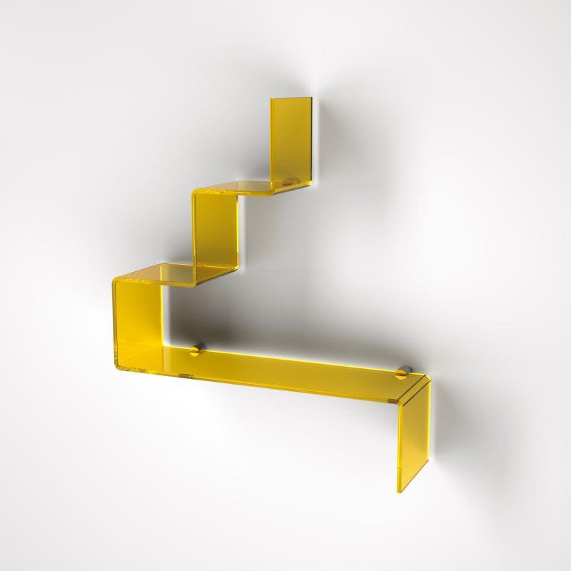 Mensola di design in plexiglass per il bagno