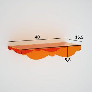 Mensola In plexiglass per il bagno e la doccia